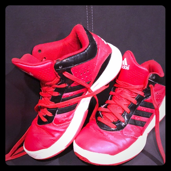 half off dd66e 70768 adidas Other - Red adidas basketball shoes